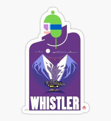 """Full Moon"" Whistler Village Shirt Sticker"