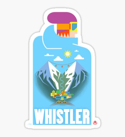 """Blue Bird"" Whistler Village Shirt Sticker"