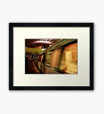 Metro Flash Framed Print