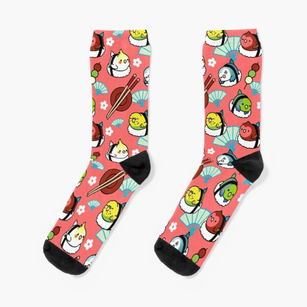 Sushi Time with Cody the Lovebird & Friends Socks
