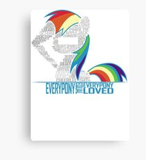 Brony Typography Canvas Print