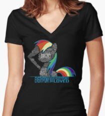 Brony Typography Women's Fitted V-Neck T-Shirt