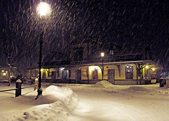 Another Quiet Storm at the Rural Rail Station. *featured by Jack McCabe