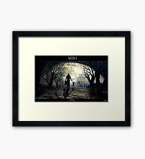Moon 4 Framed Print
