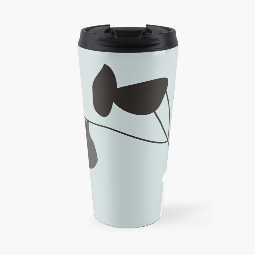 White Vase Travel Mug