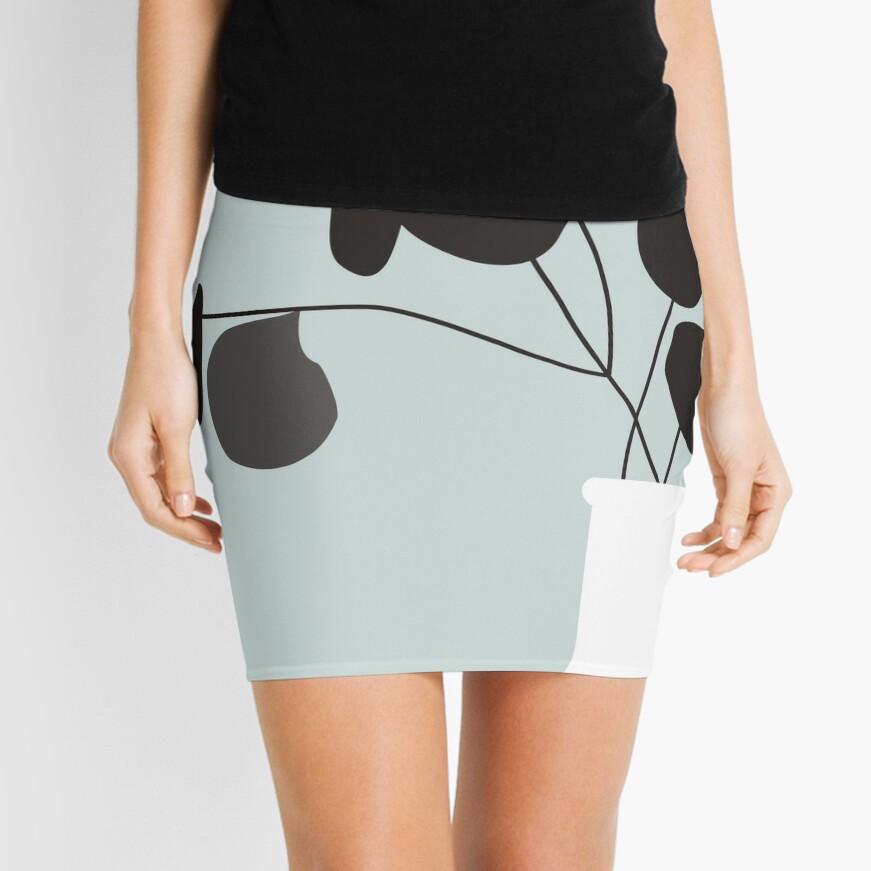 White Vase Mini Skirt