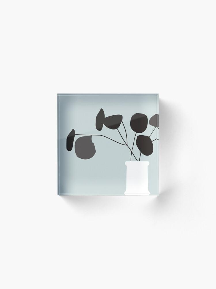 Alternate view of White Vase Acrylic Block