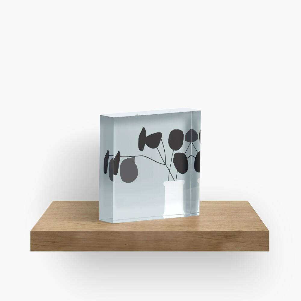 White Vase Acrylic Block