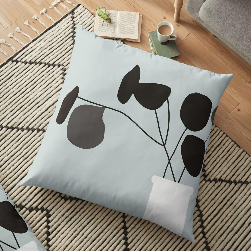 White Vase Floor Pillow