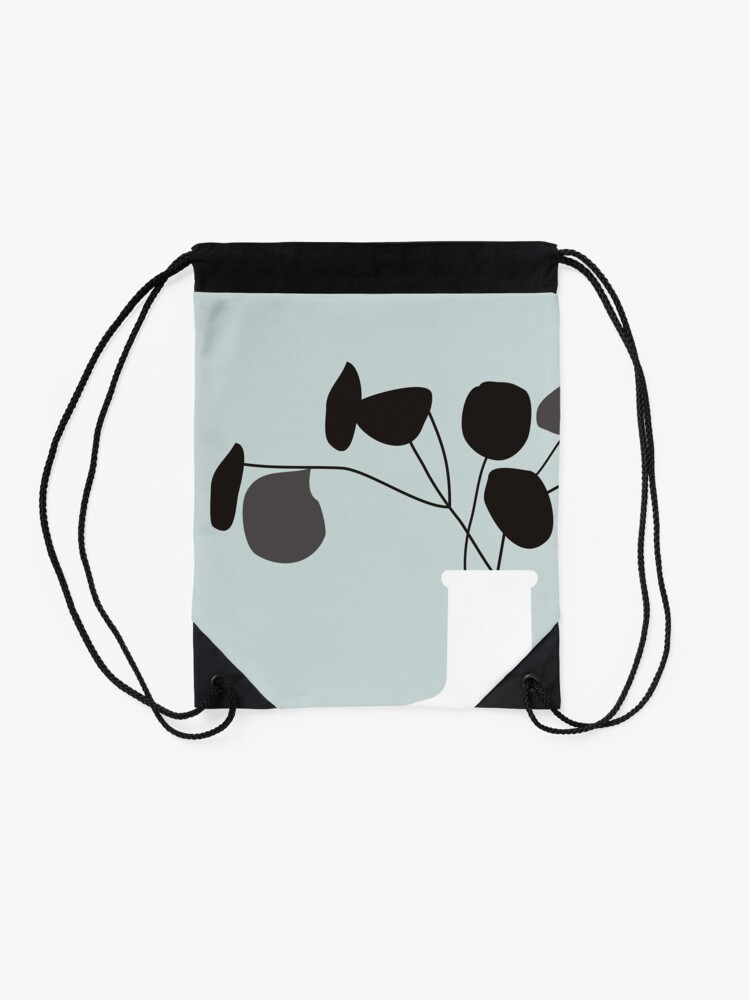 Alternate view of White Vase Drawstring Bag