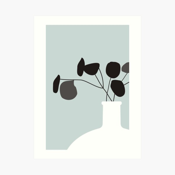 White Vase Art Print