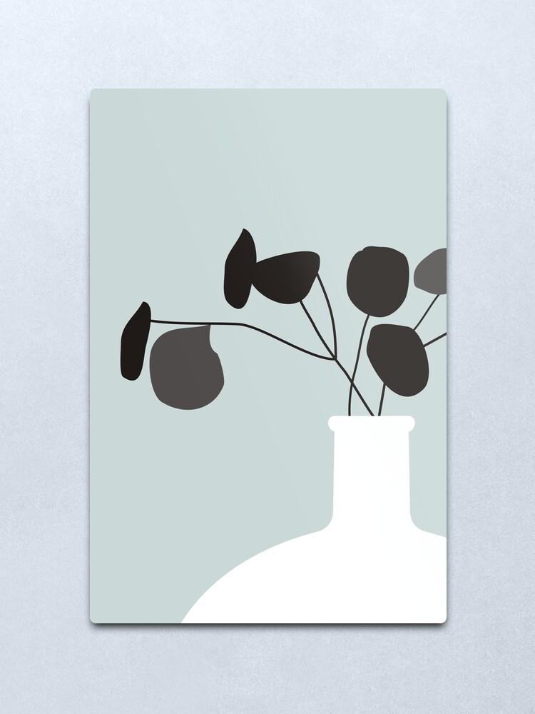 Alternate view of White Vase Metal Print