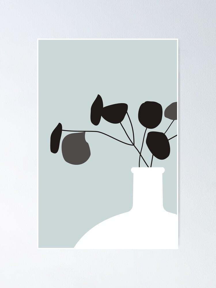 Alternate view of White Vase Poster