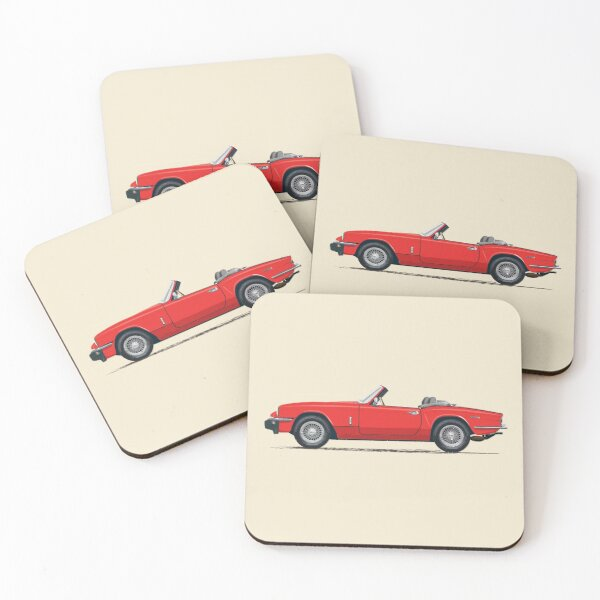 Signal Red Mk4 Spitfire – by Triumph fitted with optional wire wheels Coasters (Set of 4)