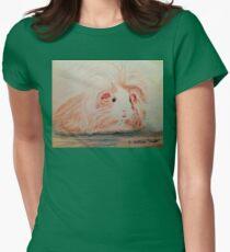 Patchwork Guinea Pig T-shirt col V femme