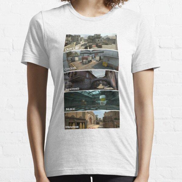 Mapas csgo Camiseta esencial