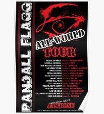 Randall Flagg World Tour- 80s Metal/Rock Style Poster