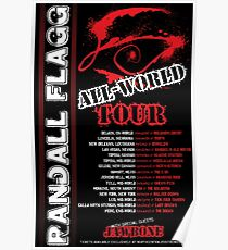 Randall Flagg World Tour- 80s Metal/Rock Style Poster