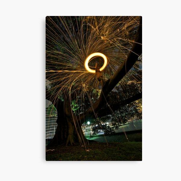 Fire Angel Xmas Tree I Canvas Print