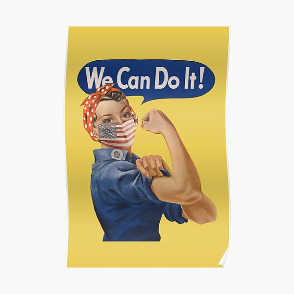 We Can Do It! Rosie the Riveter Coronavirus 2020 Poster