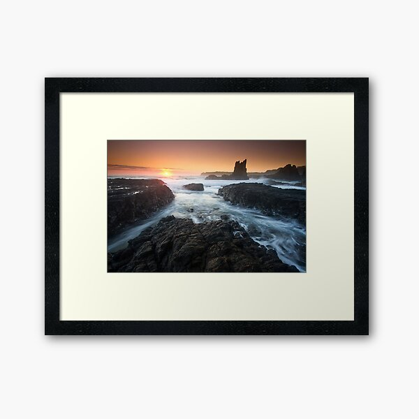 """Cathedral Sunrise"" ∞ Kiama, NSW - Australia Framed Art Print"