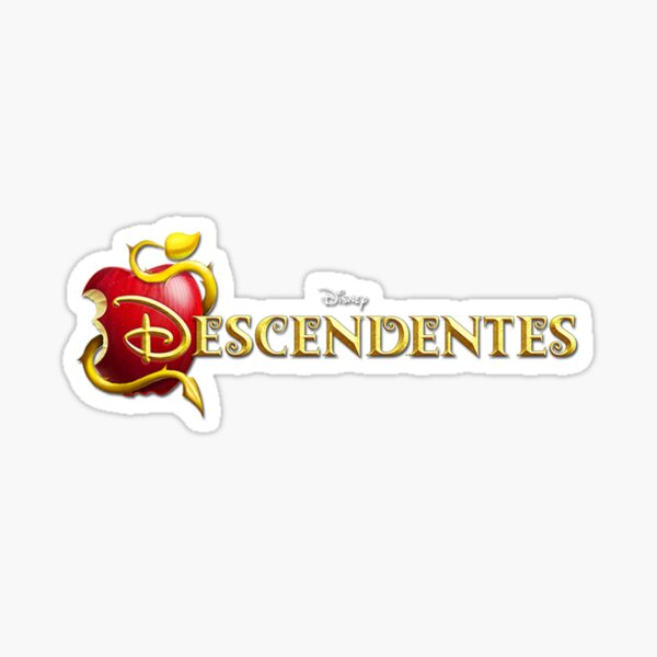 Descendants Text Name In Products Sticker