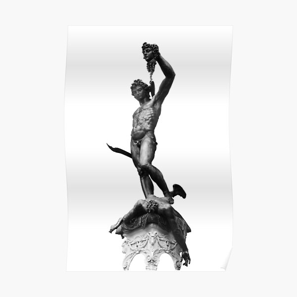 Perseus amd Medusa ( Black and White) Poster