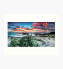 Fire in the Sky - Panorama Art Print