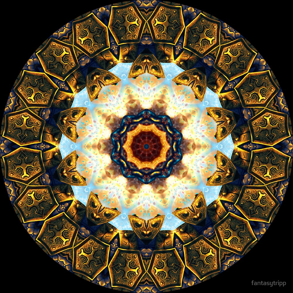 Golden Symbol Kaleidoscope 02 by fantasytripp