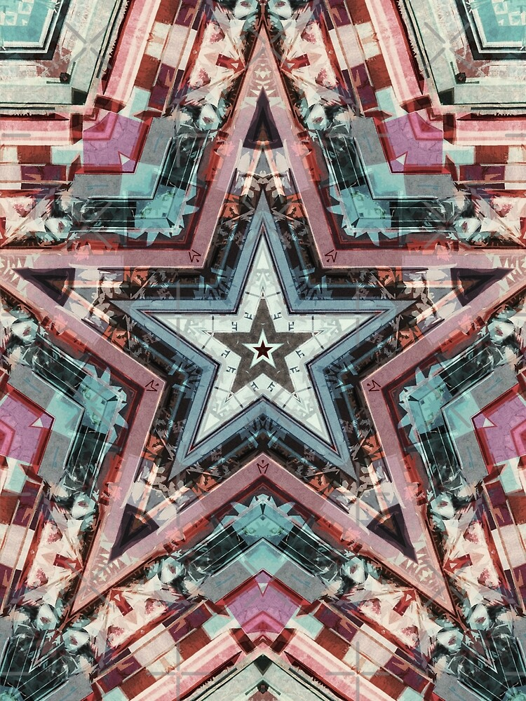 Red Green Blue Star by Phil Perkins
