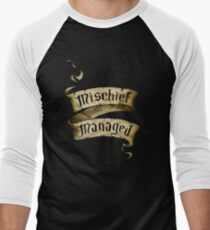 Mischief Managed Banner Men's Baseball ¾ T-Shirt