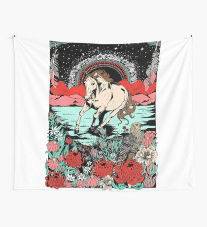 Pony Gold Wall Tapestry