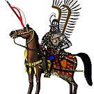 Polish Winged Hussar cartoon art drawing by Vitaliy Gonikman