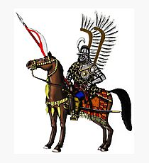 Polish Winged Hussar cartoon art drawing Photographic Print