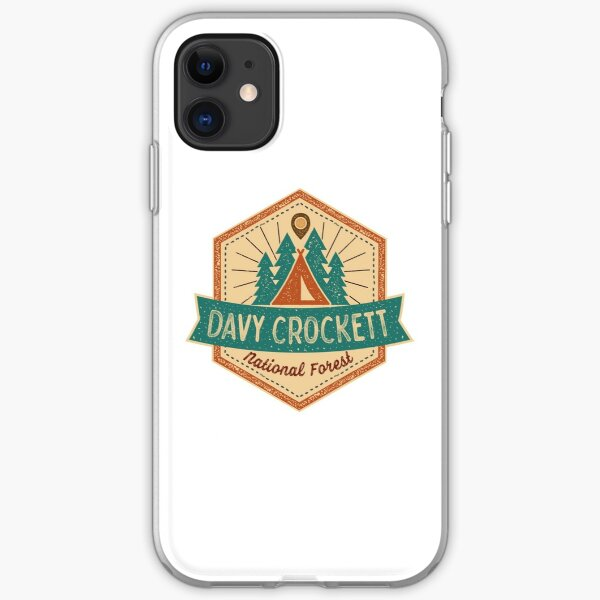 Davy Crockett National Forest Shirts, Stickers and Mugs (RRR) iPhone Soft Case