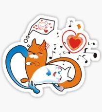 funny cats Sticker