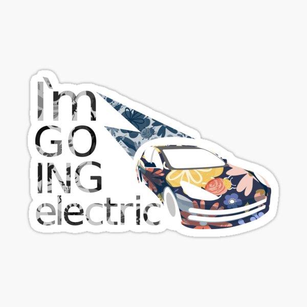 Ich fahre elektrisch Sticker