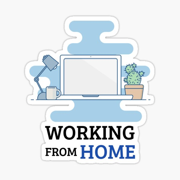 Working From Home  Sticker