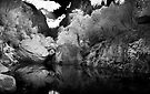 Emma Gorge Pool in infrared by Andrew Dickman
