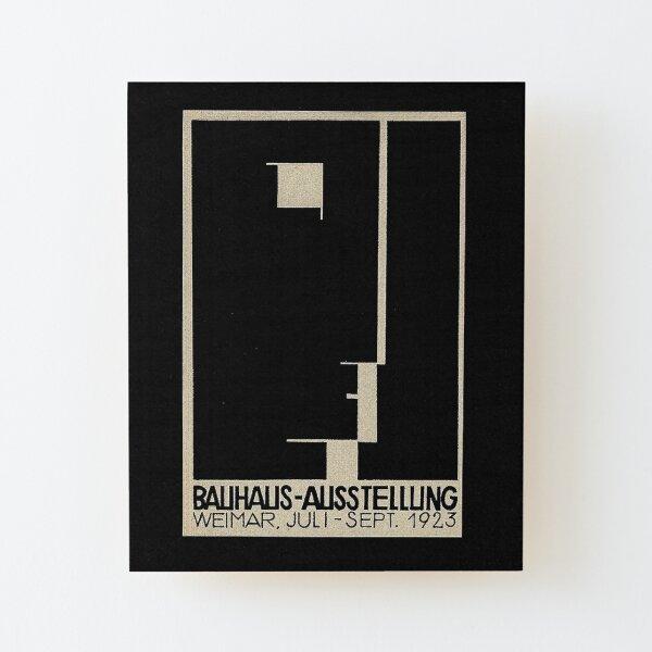 Bauhaus Logo on 1923 Weimar Advertisement Wood Mounted Print