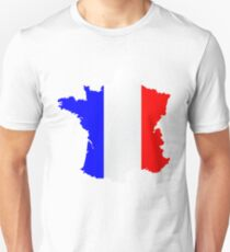 France Flag and  Map T-Shirt