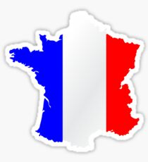 France Flag and  Map Sticker