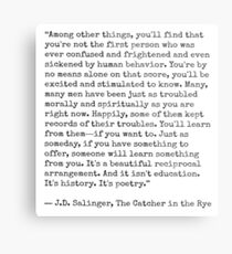 Catcher in the Rye Quote Metal Print