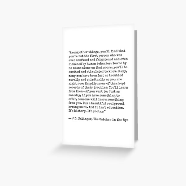 Catcher in the Rye Quote Greeting Card