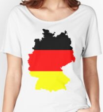 Germany Flag and Map Women's Relaxed Fit T-Shirt
