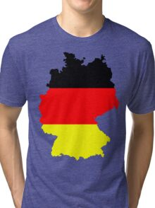 Germany Flag and Map Tri-blend T-Shirt
