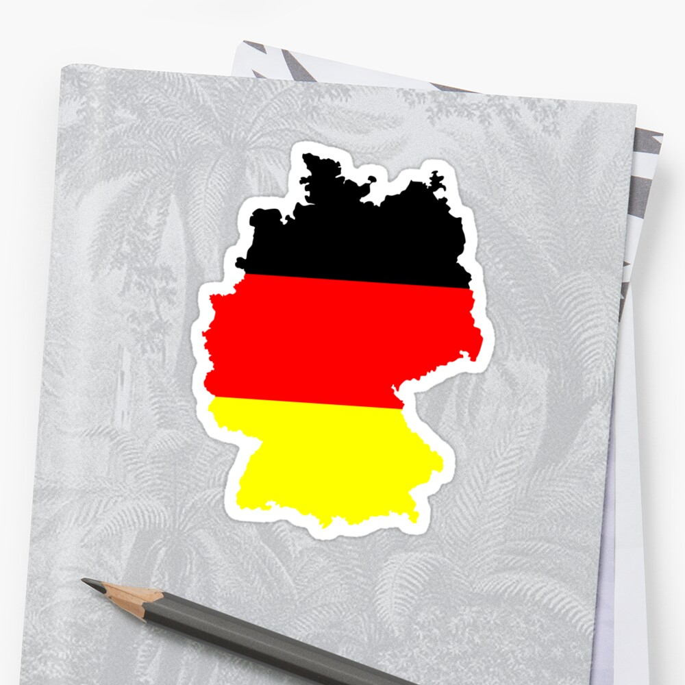 Germany Flag and Map by Van Nhan Ngo