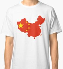 China Flag and Map Classic T-Shirt