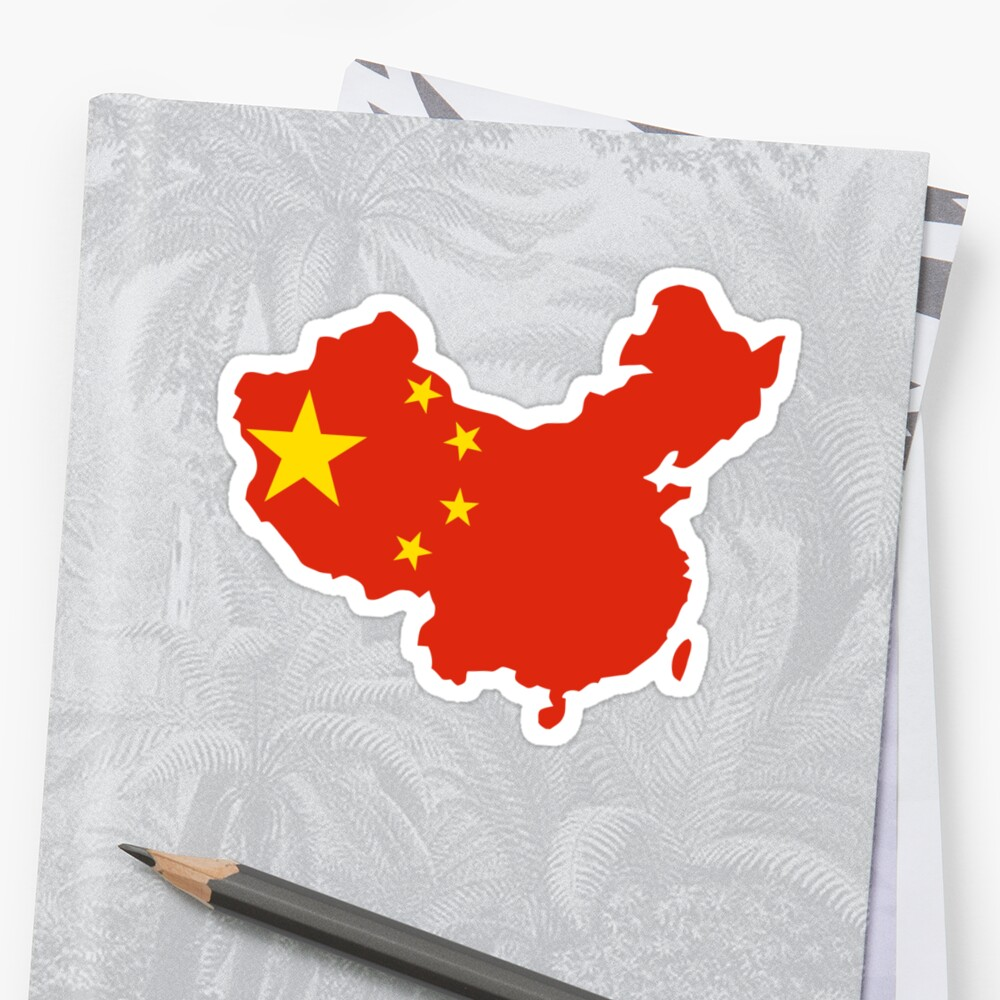 china flag and map