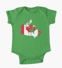 Canada Flag and Map One Piece - Short Sleeve